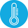 Thermometer outline icon