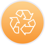 Recycling outline icon