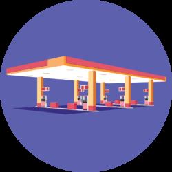 Gas station illustration
